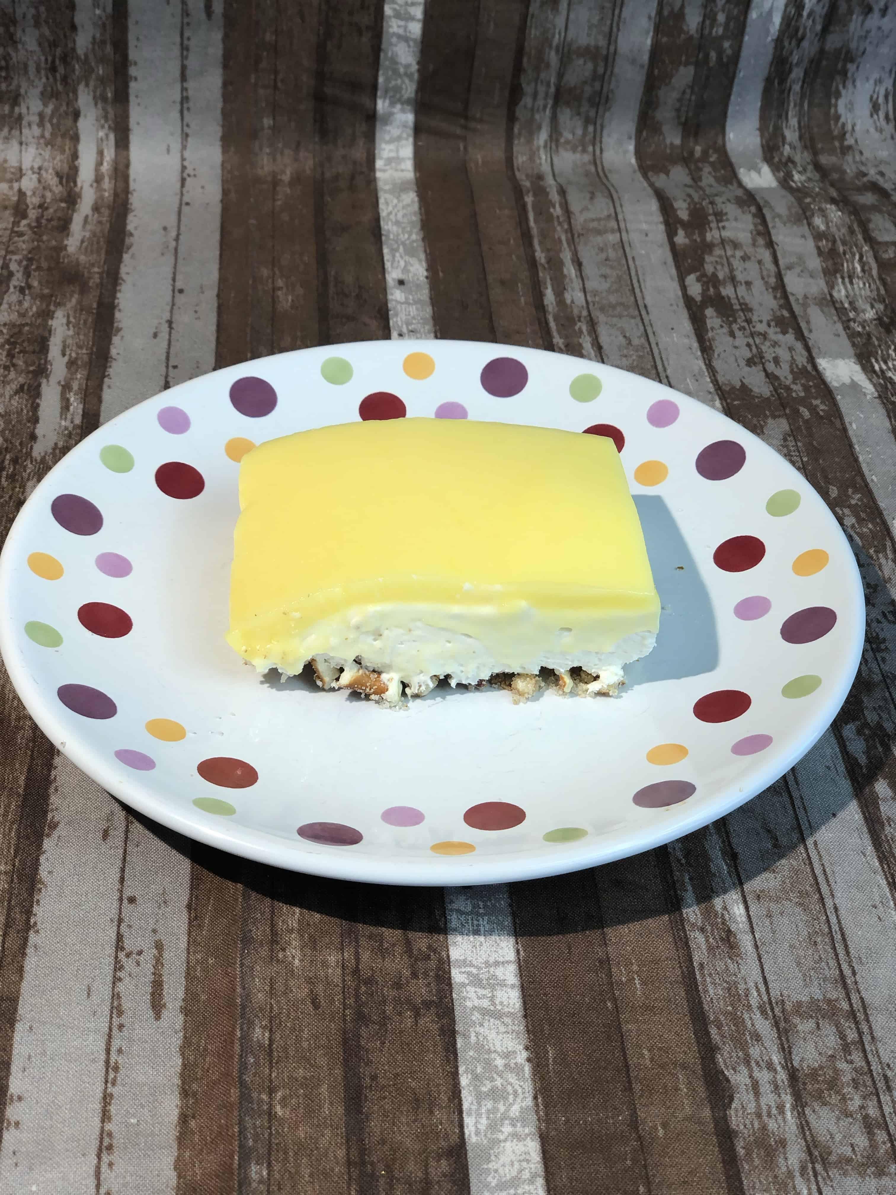 Easter Lemon Pretzel Dessert